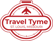 Top half of Travel Tyme logo